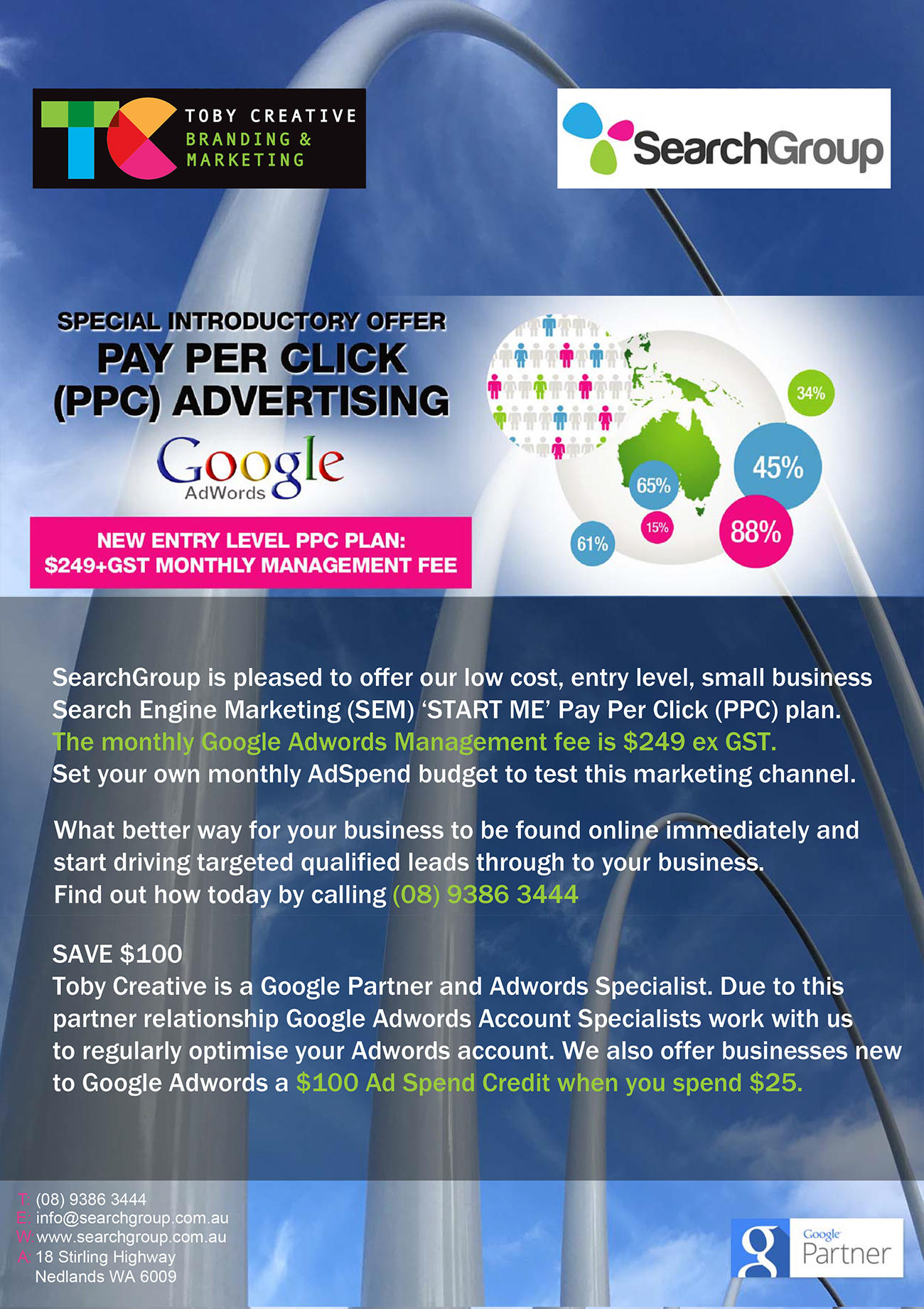 Toby Creative – Perth Search Marketing Google Adwords PPC START ME Ad Plan