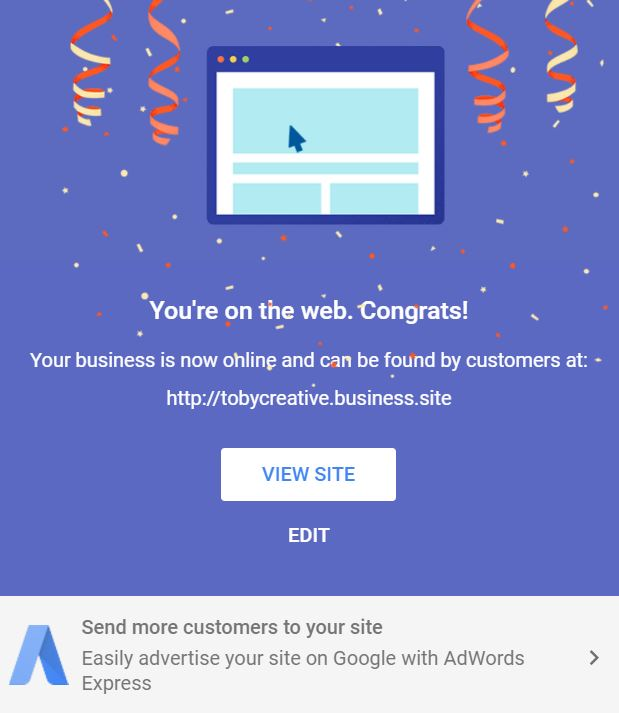 google-my-business-new-website-published