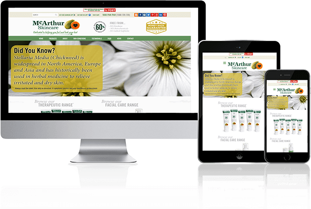 Toby Creative has designed and built the McArthur Skincare website.
