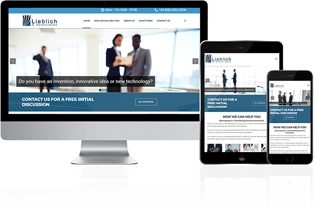 Toby Creative has designed and built the Lieblich and Associates website.