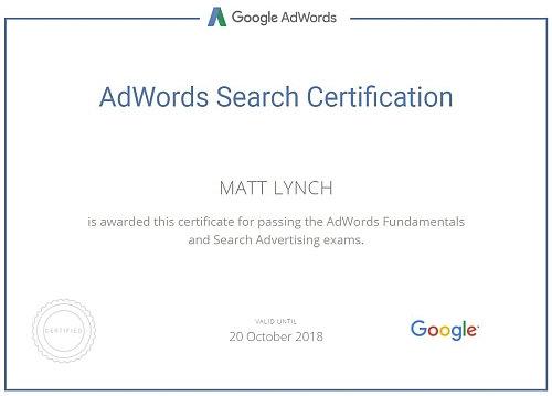 Toby Creative – Matt Lynch is a Google Adwords certified Google Partner Agency in Perth, WA