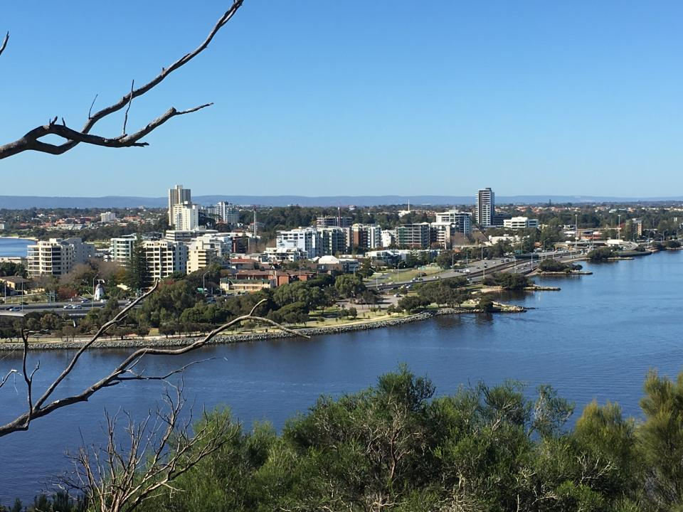 View of south Perth from Kings Park Perth WA