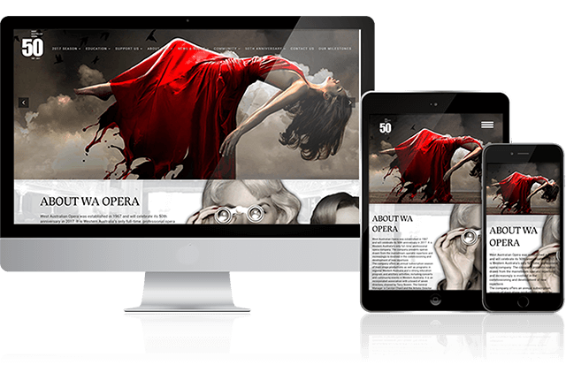 Toby Creative has designed and built the WA Opera website.