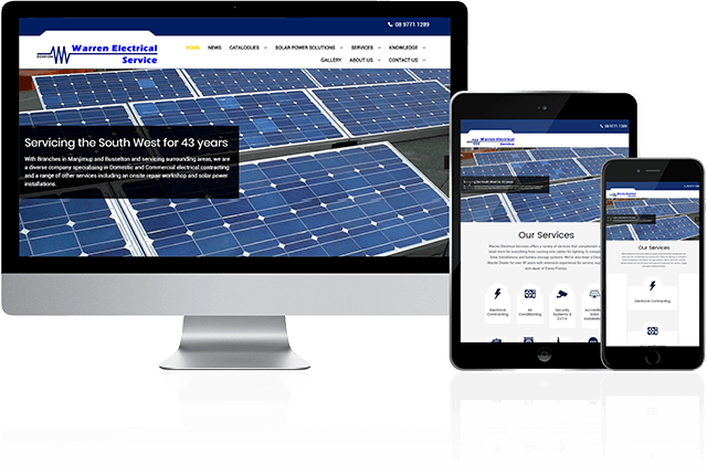 Toby Creative has designed and built the Warren Electrial Service website.