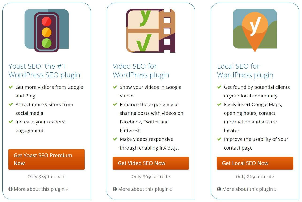 Yoast SEO offers a free WordPress plugin as well as premium SEO plugin options for your website
