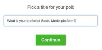 Facebook App - My Polls - Pick a Title
