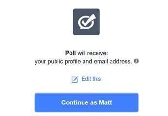 Facebook App - My Polls - App Permissions