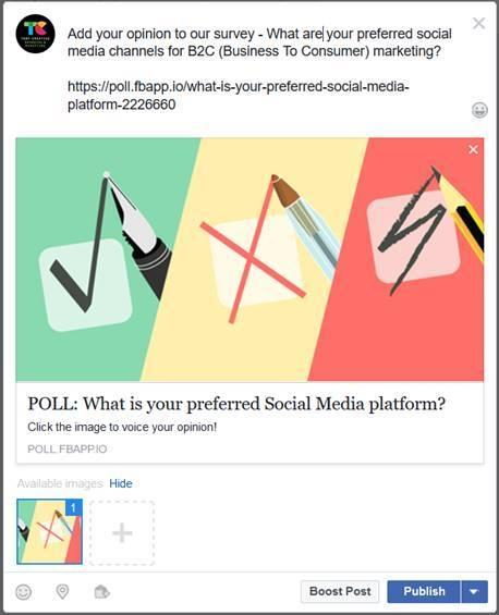 Facebook App - My Polls - Share